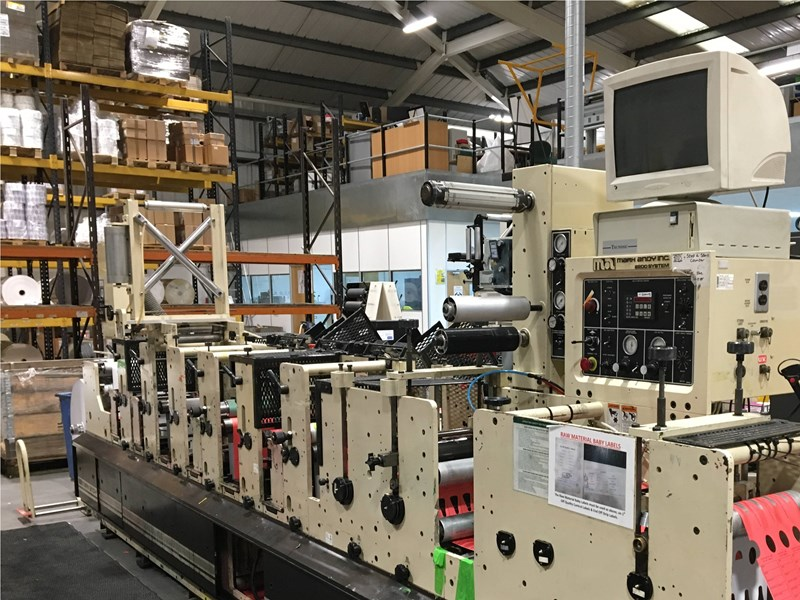 Show details for Mark Andy  2200 10E  6-colour Flexographic Label Printing Press With 3 Rotary Die Cutters And Anilox Rollers