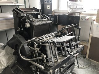 Heidelberg GTP A3 Hotfoil Stamping Letterpress