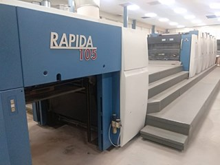 KBA Rapida 105-6L ALV2 CX HYBRID Sheet Fed