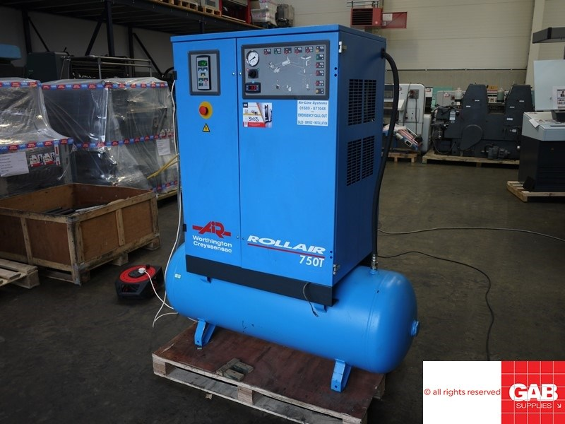Show details for Worthington Rollair 750T air compressor