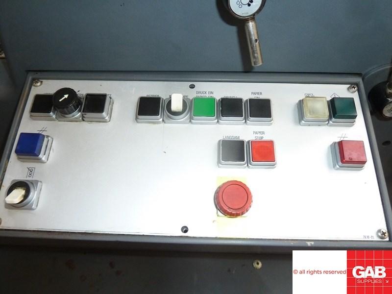 Heidelberg GTO ZP 52 two colour offset printing machine