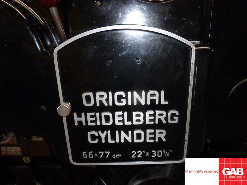 Heidelberg SBG with B&H Hot Foiling Attachment