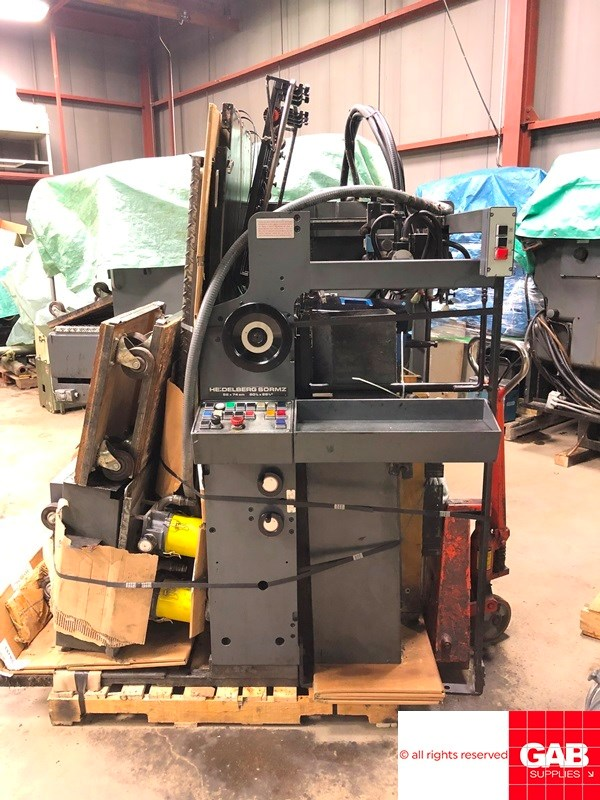 Heidelberg SORMZ two colour offset