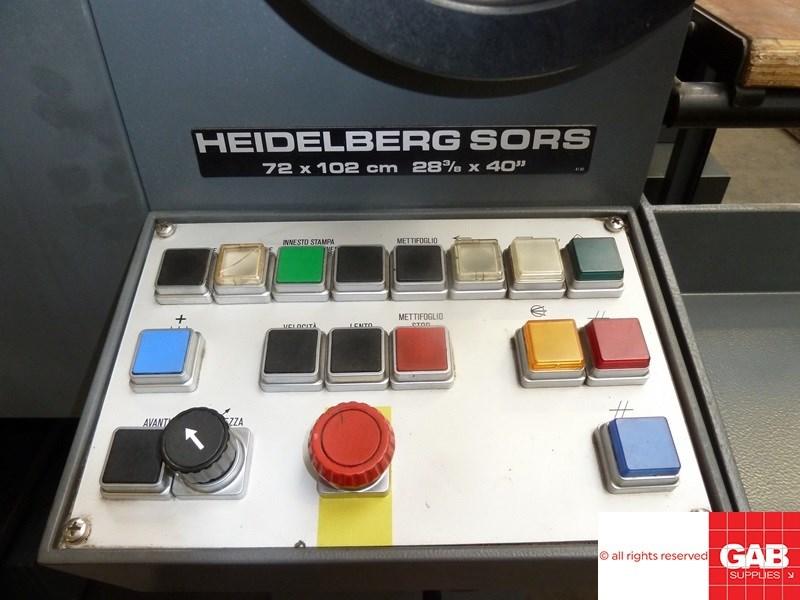 Heidelberg SORS one colour offset