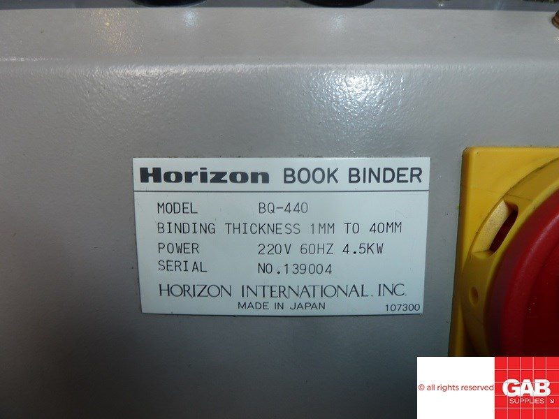 Horizon BQ 440 perfect binder