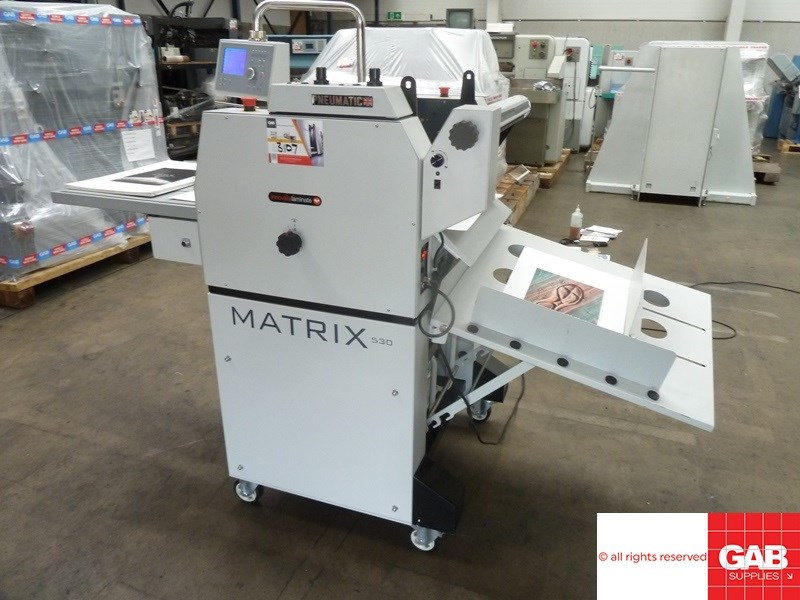 Show details for Matrix MX-530P pneumatic laminating machine