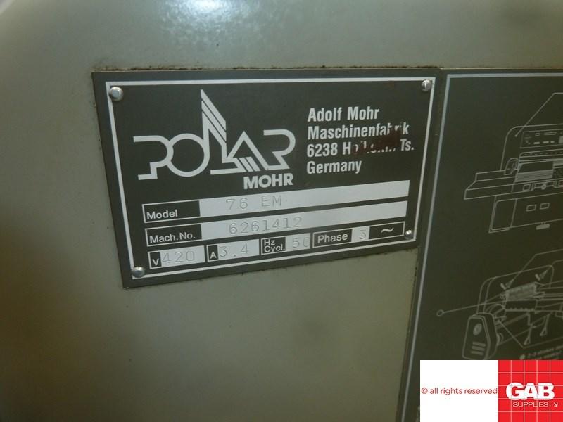 Polar 76 EM paer cutter