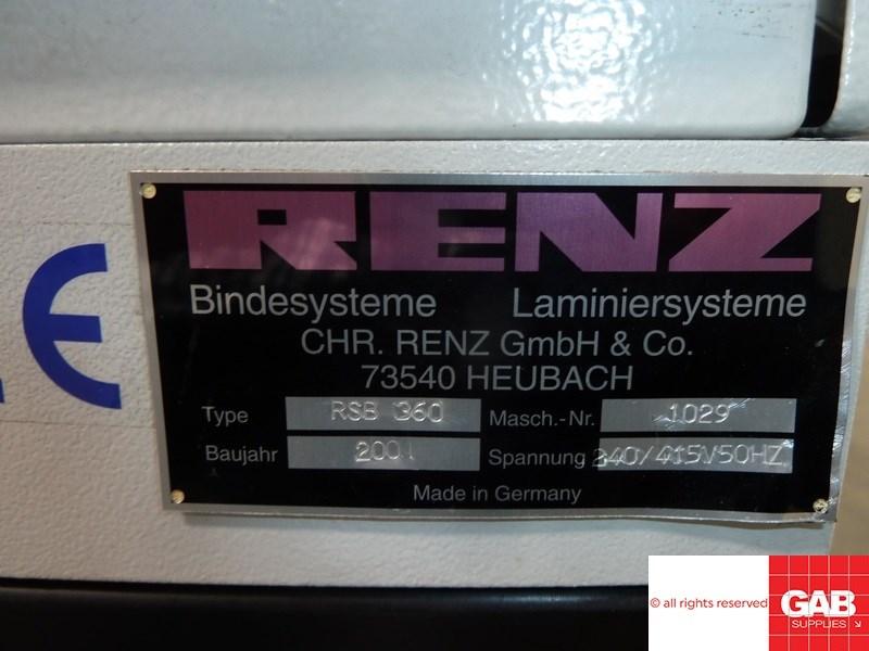 Renz RSB 360 wiro binding machine