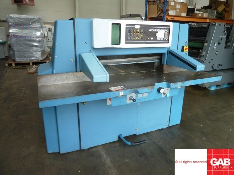 Wohlenberg 92 MCS-2TV paper cutter