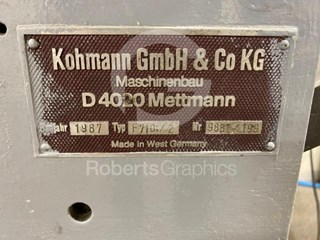 KOHMANN   F710/2 Window Patchers
