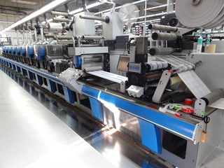 Gallus RCS430 - 10 colour press Labels and Forms
