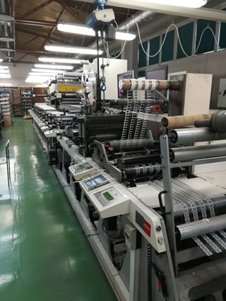 Nilpeter FA4 - 10 colour press Labels and Forms