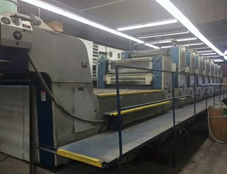 1994 KBA Planeta 142 -7 colors Coater and UV