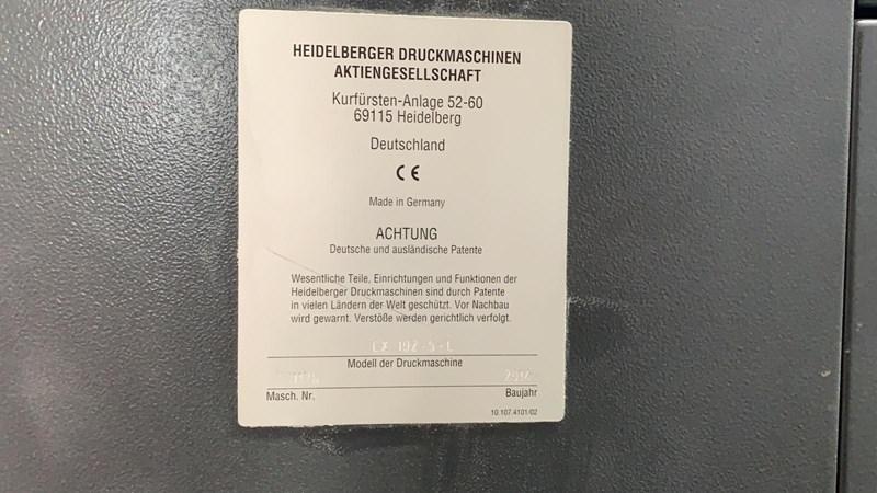 Heidelberg CX102 5 LX2