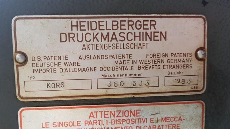 Heidelberg KORS 1