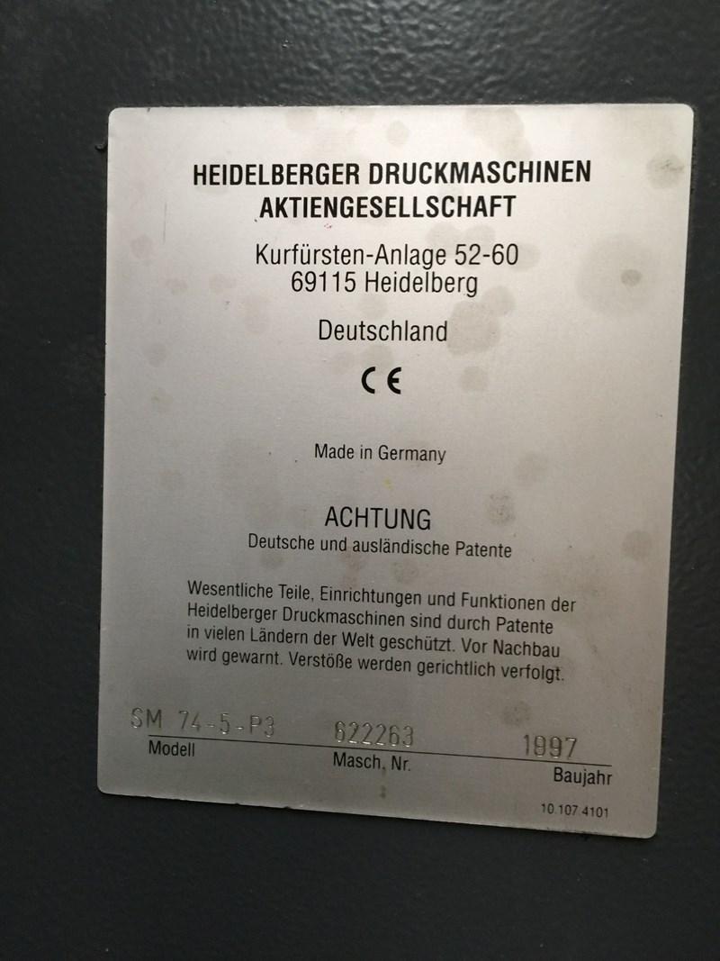 Heidelberg SM74 5 P3H