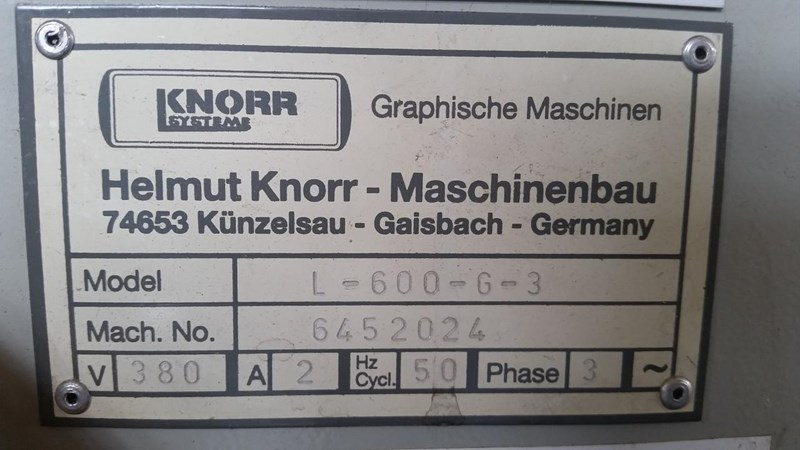 Show details for Knorr L 600 G 3