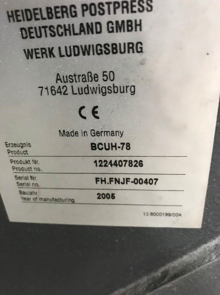 Heidelberg STAHLFOLDER KH 78  4 KTL